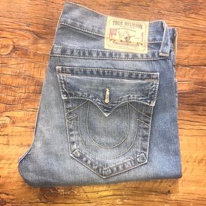 True Religion Men's Ricky Cut Off Denim Shorts 36W